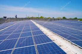 Завод с солнечными батареями