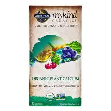 garden of life mykind organics organic plant calcium 90 capsules