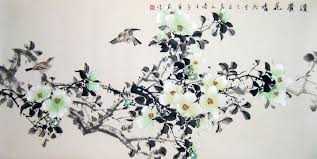 chinese flower paintings bird and spring flower
