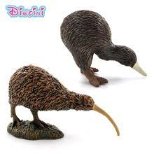 Simulation Cute Small kiwi bird animal model plastic mini figure ...