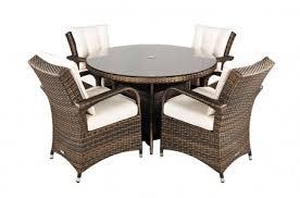 arizona rattan garden furniture round table