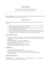 Security Clearance Resume Example Entry Level Security Guard Resume