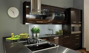 Second Nature Kitchen Doors Avant Ebony Contemporary Gloss Kitchen