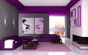 purple furniture. Living Room Design Ideas Bright Colorful Soffa Leather Purple Beautiful Wallpaper Decorating Contemporary Furniture