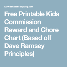 Kids Commission Chart Free Printable Kids Commission Reward And Chore Chart Based