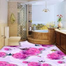 3d Fototapete Benutzerdefinierte 3d Boden Malerei Rosa Rosen