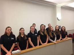 Teen court panel member teen