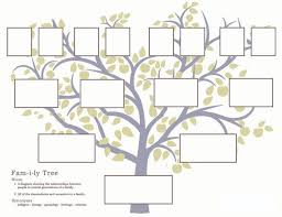 Family Tree Printable Template Family History Activities For Children 3 11 Familysearch Org