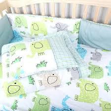 green elephant print 5 pieces baby bedding set sage sets