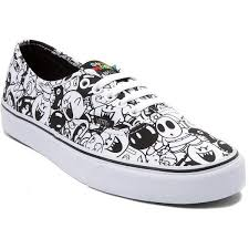 vans nintendo shoes. nintendo and vans authentic super mario villains skate shoe ($99) ❤ liked on polyvore shoes