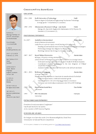 Format For Curriculum Vitae 24 Sample Curriculum Vitae For Job Application Gin Education 21