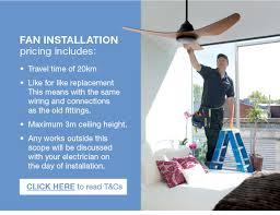 fan installation includes