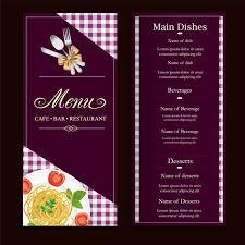 Food Menu Design Restaurant Menu Design With Classical Violet Background Free Vector