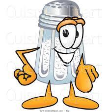cuisine clipart of a cute salt shaker mascot cartoon character
