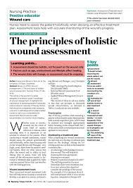 Pdf The Principles Of Holistic Wound Assessment