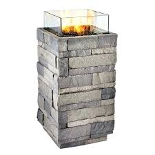 real flame liquid propane fire column at find our selection of pits the t faux wicker and wood fire column propane tall