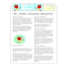 Education Newsletter Templates Special Education Newsletter Template Templates Design