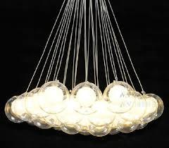 modern chandelier 19 lights glass ball pendant light g4 blub ceiling lamp hotel decor lighting 110v 220v modern hanging light hanging lights in kitchen from