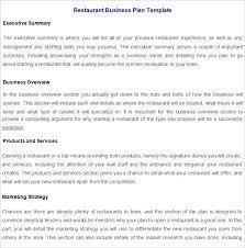 Restaurant Business Plan Template 13 Free Pdf Word