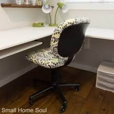 Finished office makeover Room Office Chair Makeover Finished And Back At The Desk Girl Just Diy Furniture Makeover Archives Girl Just Diy