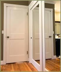 Interior Mirrored Sliding Closet Doors Lowes Glamorous Mirrored