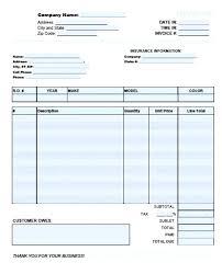 auto body repair invoice auto repair invoice template word luxury automotive form rep