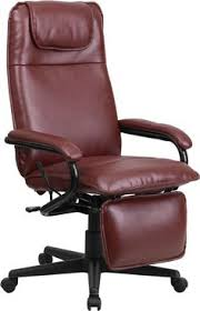 flash furniture burgundy leather executive reclining office chair