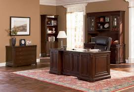 office wood desk. Brown Home Office Furniture Wood With Cabinet, Hutch And Bookcase . Desk