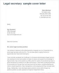 Legal Assistant Cover Letter Sample Secretary Equipped With Resume