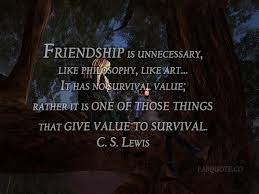 Cs Lewis Quotes On Friendship Cool CS Lewis Friendship Quote
