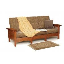 amish mission morris sofa 2 329 liked on polyvore featuring home furniture