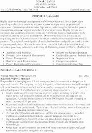 New Property Management Objective Resume Resume Design