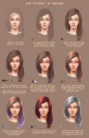 how to draw hair tutorial using photo by frenone