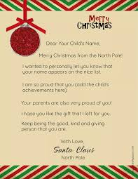 Free download & print letter to santa claus envelope template santa stamp 8. Free Personalized Printable Letter From Santa To Your Child