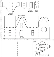christmas house template printable christmas village template 6 best of printable