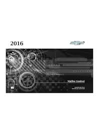 2016 chevrolet malibu Owners Manual | Just Give Me The Damn Manual