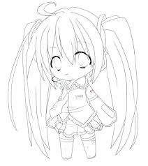 Anime Girls Coloring Pages Printable For Girl To