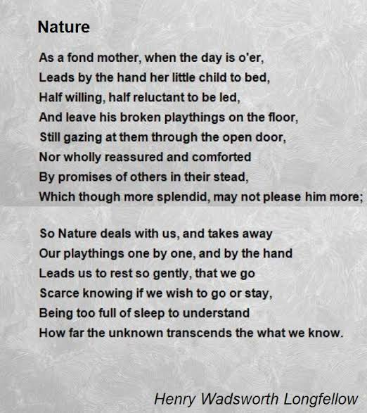 poems on nature in english