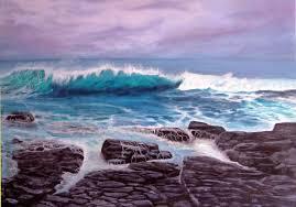flinders rocks seascape oil painting
