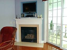 corner fireplace with tv above large size of living fireplace
