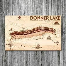 Geist Reservoir Depth Chart Donner Lake Ca Wood Map 3d Topographic Wood Chart