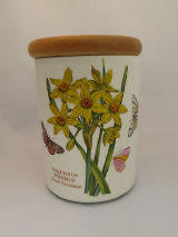 used portmeirion botanic garden storage jar 14cm 5 5 with wooden lid
