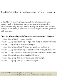 Security Supervisor Resume Magnificent Top 60 Information Security Manager Resume Samples