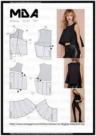 Crop Top Sewing Pattern Fascinating Pin By NGUYEN NGAN HA On RẬP CHART Pinterest Fabric