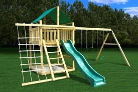 swing set plans diy kits wooden for s
