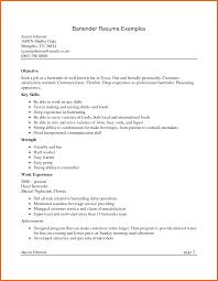 Resume For Bartender Sop Example