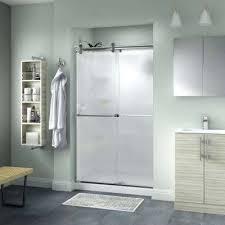semi contemporary sliding shower door in rain glass using x doors n
