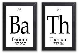 bath periodic table framed 2 piece wall plaque set contemporary novelty signs by neurons not included
