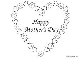 Print A Mother S Day Card Online Happy Mothers Day Flowers Card Of Coloring Pages For Adults Quotes
