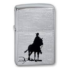 <b>Зажигалка ZIPPO</b> Bronco <b>Cowboy</b> Brushed Chrome, серебристый ...
